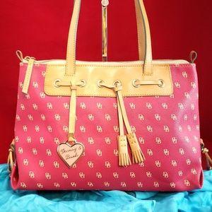 Dooney & Bourke Pink Leather Tassel Tote
